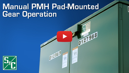 Manual PMH Pad-Mounted Gear Operation